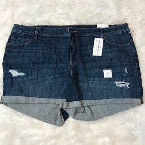 "NWT Old Navy Distressed Plus Jean Shorts 5"" Inseam"
